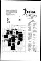 Index Map and Street Index, Pomona 1895